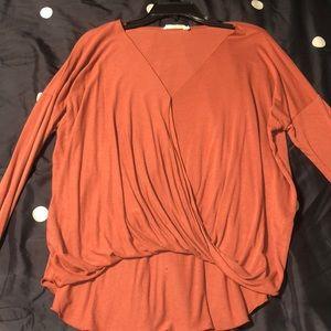 Draped shirt. Size S